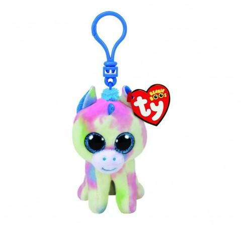 Ty Blitz - Blue Unicorn Clip Plush Accessories for Kids age 3Y+ - 8.5 Cm