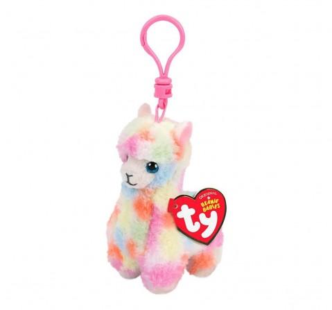 Ty Lola - Multicolor Llama Clip Plush Accessories for Kids age 3Y+ - 8.5 Cm