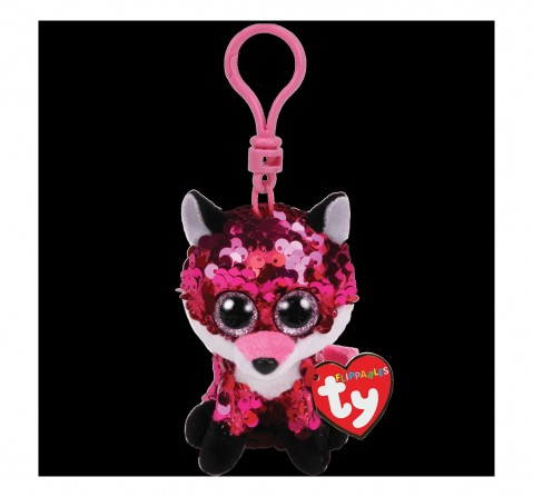 Ty Jewel - Flippables Pink Fox Clip Plush Accessories for Kids age 3Y+ - 8.5 Cm