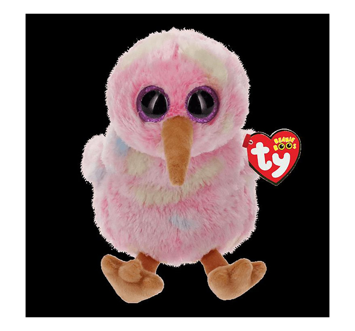Ty Kiwi - Multicolored Kiwi Regular Beanie Boo Quirky Soft Toys for Kids age 3Y+ - 15 Cm
