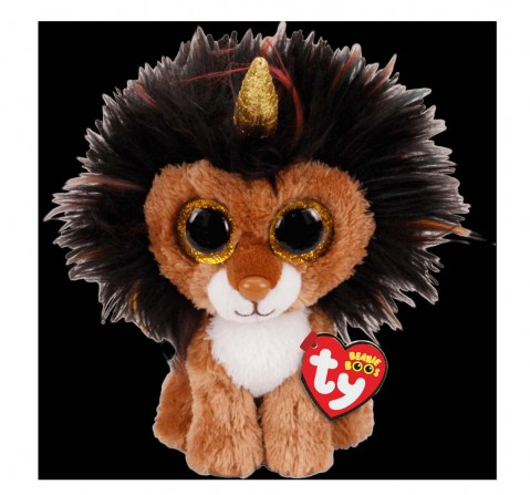 Ty Toys Ramsey - Lion With Horn Regular Beanie Boo Quirky Soft Toys for Kids Age 3Y+ - 15 Cm