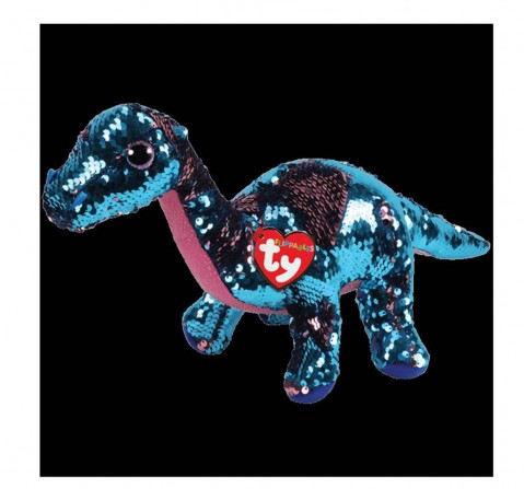 Ty Toys Tremor - Dinosaur Flippables Regular Beanie Boo Quirky Soft Toys for Kids Age 3Y+ - 15 Cm