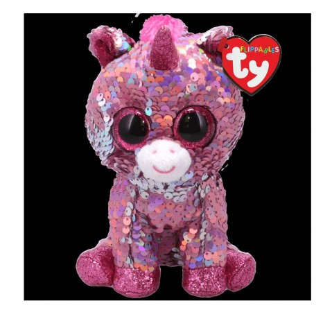 Ty Toys Sparkle - Unicorn Reg Flippables Quirky Soft Toys for Kids Age 3Y+ - 15 Cm