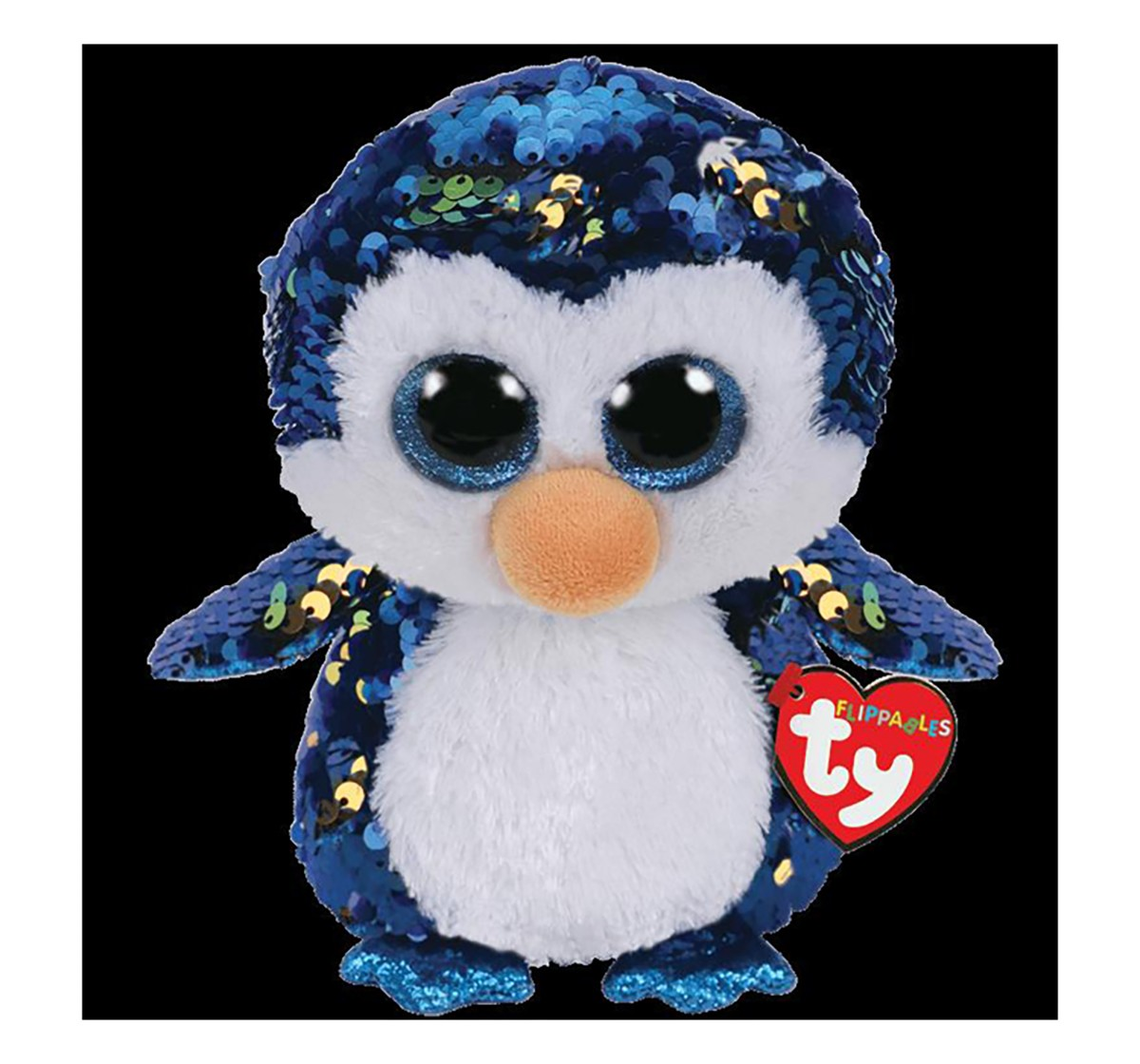 Ty Payton - Penguin Flippables Regular Beanie Boo Quirky Soft Toys for Kids age 3Y+ - 15 Cm