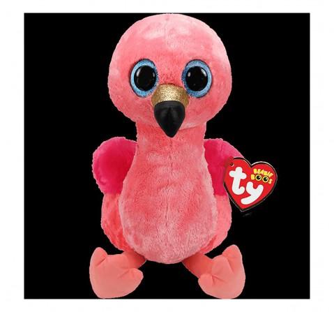 Ty Gilda - Pink Flamingo Medium Beanie Boo Quirky Soft Toys for Kids age 3Y+ - 24 Cm