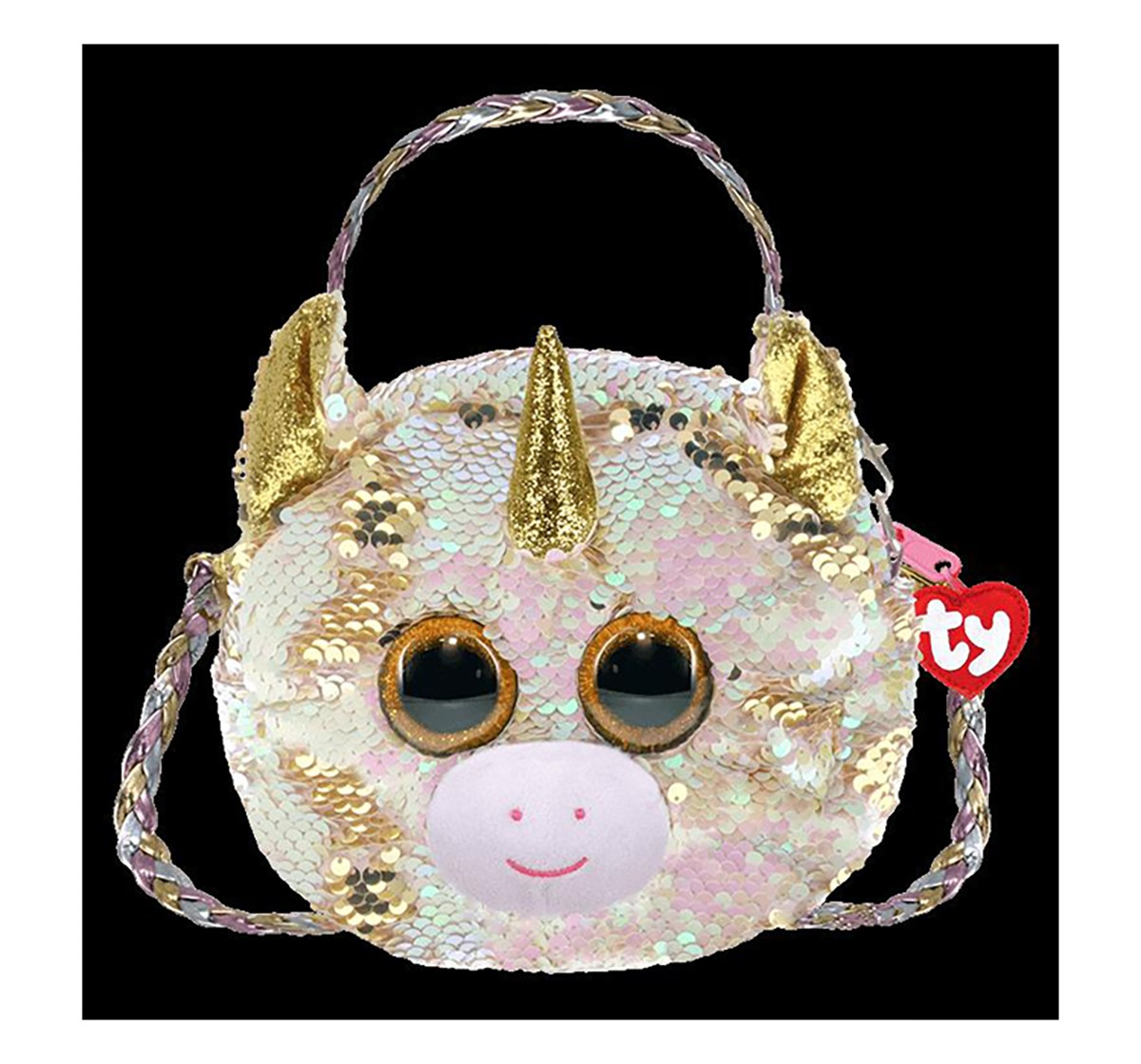 Ty Fantasia - Flippable Sequin Shoulder Bag/ Purse Plush Accessories for Girls age 3Y+ - 15 Cm