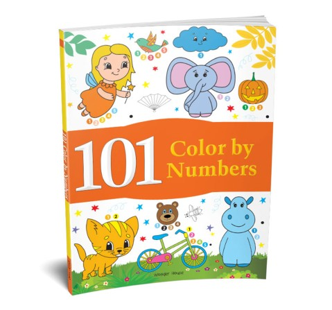 101 Color By Numbers: Fun Activity Book, 96 Pages Book By Wonder House Books, Paperback