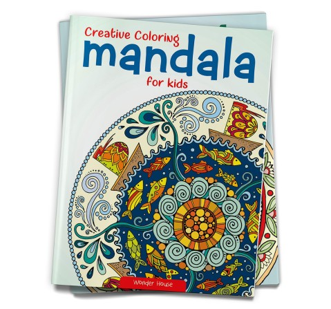 Creative Coloring Mandala : Coloring Book To Improve Concentration And Relaxation, 32 Pages Book By Wonder House Books, Paperback