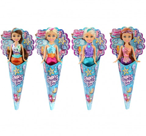 """Sparkle Girlz 10""""Cone Mermaid For Girls Dolls & Accessories for Kids age 3Y+"""