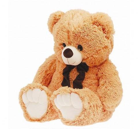 Jasco Bear Muffler With Printed Tie, 100Cm Teddy Bears for Kids Age 3Y+ - 100 Cm (Beige)