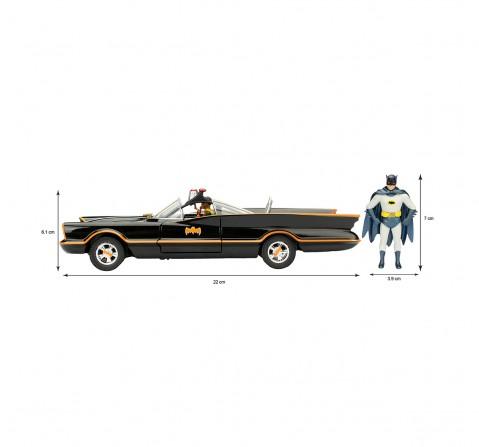 Dc Batman 1966 Classic Batmobile 1:24 Vehicles for Kids age 8Y+