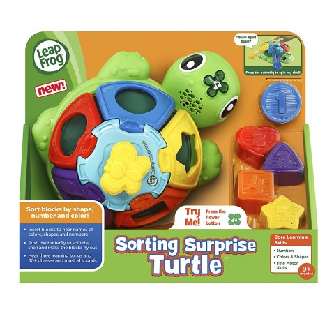 Leap Frog  Vtech Sorting Surprise Turtle Children'S Toy Learning Toys for Kids age 9M+