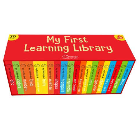 My First Learning Library: Boxset Of 20 Board Books Gift Set For Kids, 440 Pages Book By Wonder House Books, Box Set