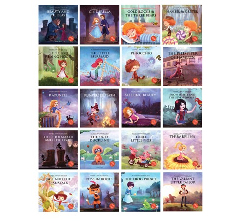 My First Five Minutes Fairy Tales Boxset: Giftset Of 20 Books For Kids, 320 Pages Book By Wonder House Books, Box Set