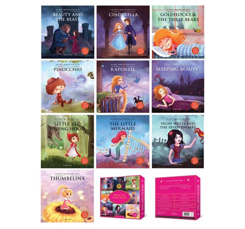Princess Fairy Tales Boxset: A Set Of 10 Classic Children Fairy Tales Book, 160 Pages Book By Wonder House Books, Box Set