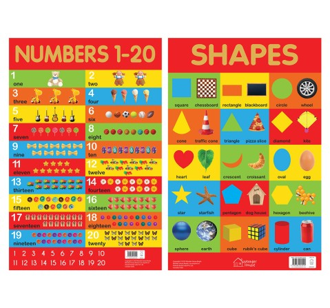 Early Learning Educational Charts For Kids - Pack Of Ten Charts Book, 10 Pages Book By Wonder House Books, Box Set