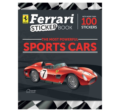Ferrari Sticker Book For Kids, 44 Pages Book By Franco Cosimo Panini, Paperback