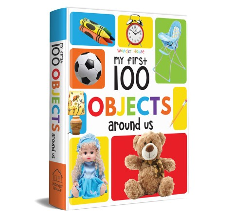My First 100 Objects Around Us Book, 24 Pages Book By Wonder House Books, Board Book