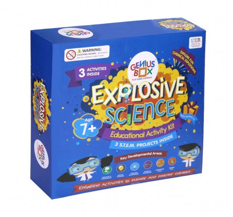 Genius Box Explosive Science 3 Activity Kit for 7+ Year Age: Diy, Educational Toy, Educational Kit, Stem Toy, Science Experiment, Learning Kit Science Kits for Kids Age 7Y+