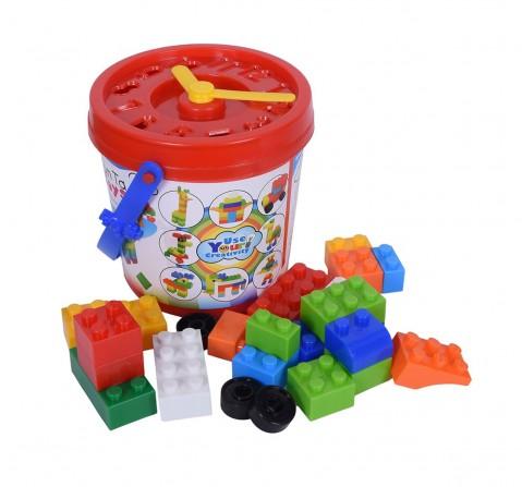 Sunta Basic Plastic Blocks - 42Pcs Generic Blocks for Kids age 3Y+