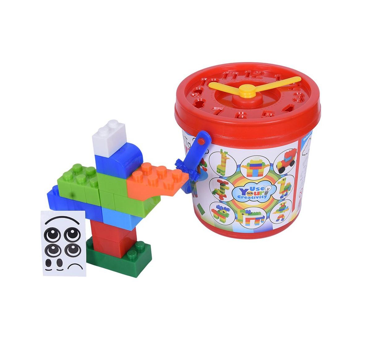 Sunta Basic Blocks, Multi Color (88 Pieces) Generic Blocks for Kids age 3Y+