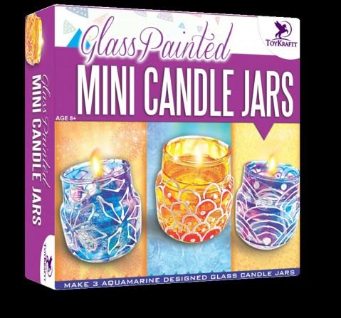 Toy Kraft Glass Painted Mini Jars DIY Art & Craft Kits for Kids age 8Y+