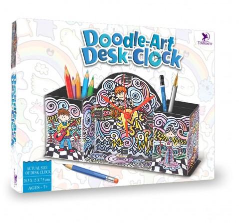 Toy Kraft Doodle Design - Desk Clock, Multicolor, 7Y+