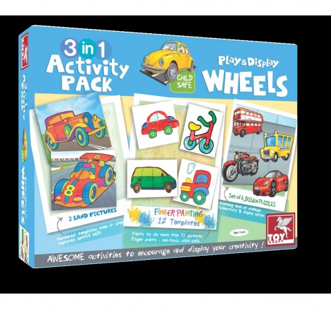 Toy Kraft 3 In 1 Activity – On Road DIY Art & Craft Kits for Kids age 3Y+