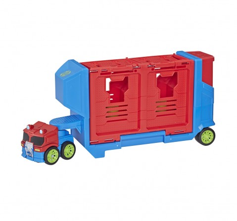 Playskool Heroes Transformers Rescue Bots Academy Flip Racers Optimus Prime Launcher for Kids age 3Y+