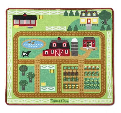 Melissa & Doug  Round The Barnyard Farm Rug Baby Gear for Kids age 3Y+
