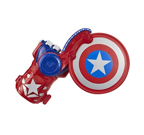 Marvel Nerf Power Moves Avengers Captain America Shield Action Figure Play Sets for Kids age 5Y+