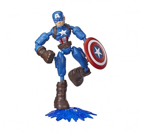 Marvel Avengers Bend and Flex CAPTAIN AMERICA Action Figures for BOYS age 6Y+