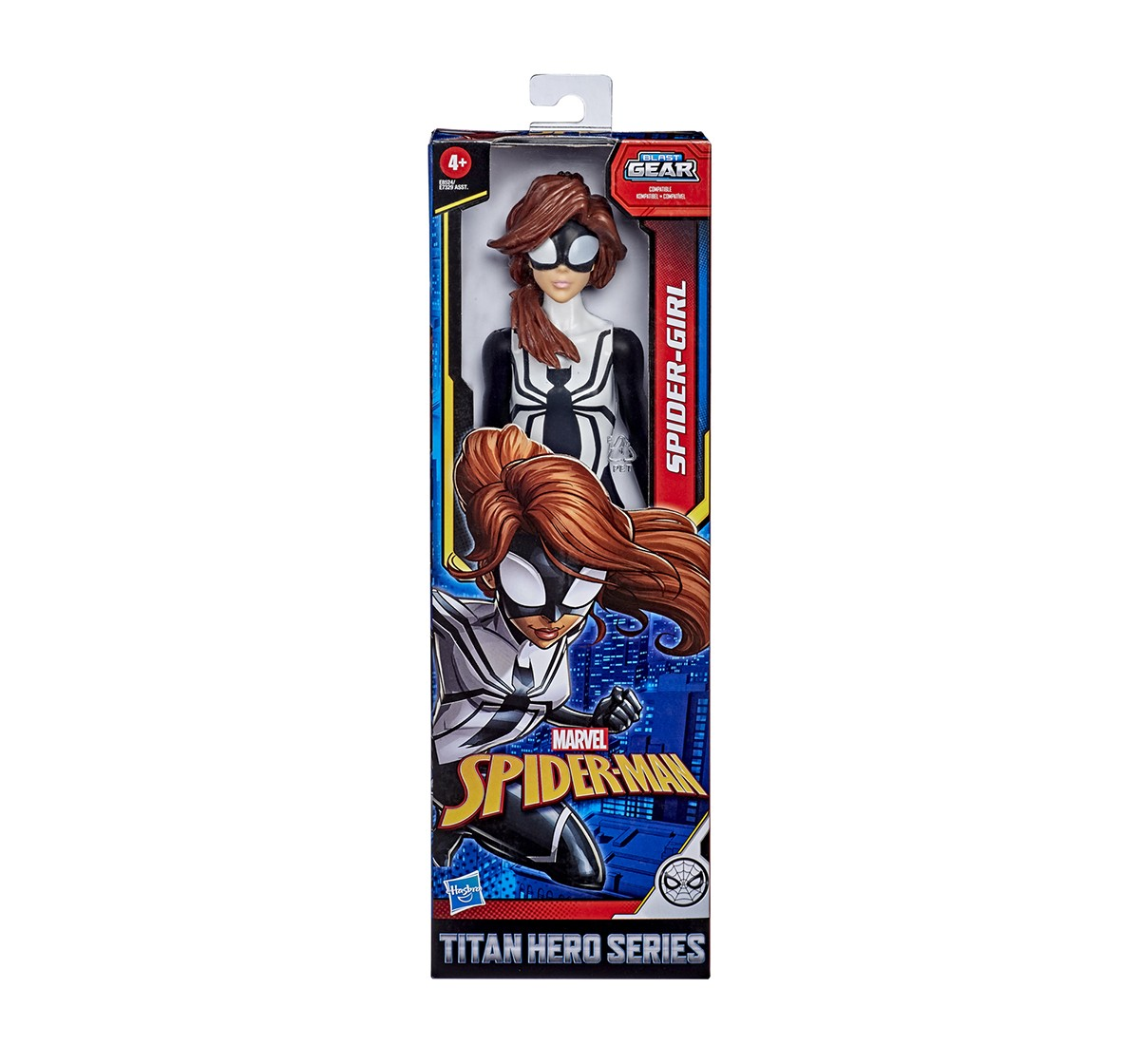 Marvel Spider-Man Titan Hero Series Blast Gear Web Warriors Spider-Girl Action Figures for Kids age 4Y+
