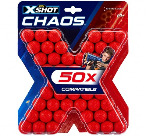 X-Shot Chaos 50 Dart Balls Refill Pack Blasters for Kids age 14Y+