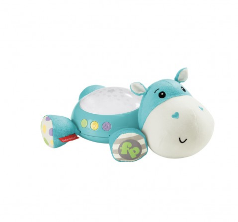 Fisher price Hippo Projection Soother Teal New Born for Kids age 0M+