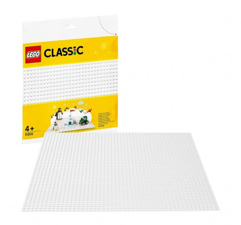 Lego Classic White Baseplate 11010 Blocks for Kids age 4Y+