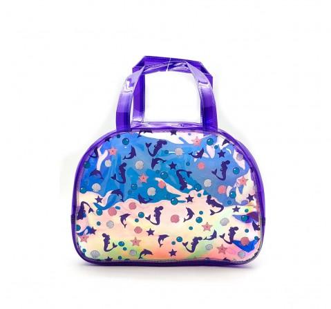 Hamster London Shiny Boston Bag Mermaid Travel for Kids Age 3Y+ (Purple)