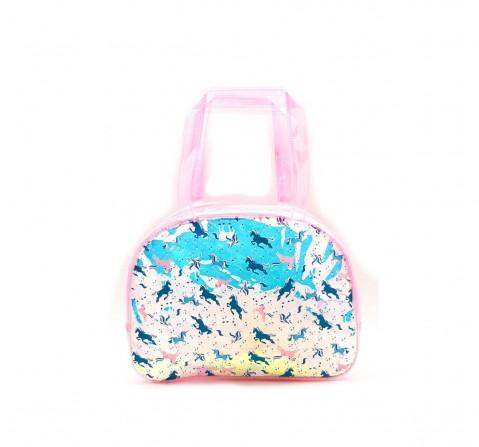 Hamster London Shiny Boston Bag Unicorn Travel for Kids Age 3Y+ (Pink)