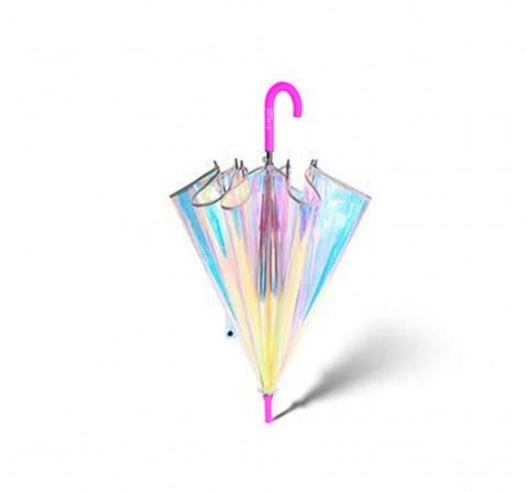 Hamster London Shiny Holographic Umbrella Pink Novelty for Kids Age 3Y+ (Pink)