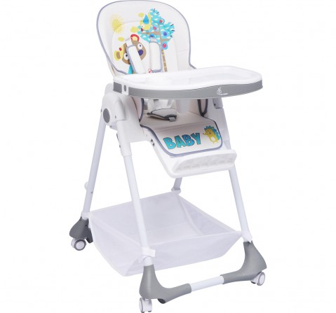 R for Rabbit Marshmallow Feeding High Chair for Babies - 7 Levels Smart Baby Feeding High Chair (Grey) Baby Gear for Kids Age 6M+