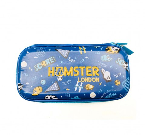 Hamster London Straight Fire Hardtop Pencil Case - Football Bags for Kids Age 3Y+ (Blue)