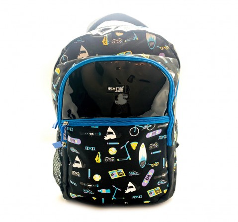 Hamster London Beach Theme Big Backpack for Boys age 3Y+ (Black)