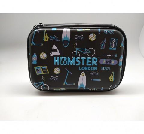 Hamster London Beach Theme Hardtop Pencil Case for Kids age 3Y+ (Black)