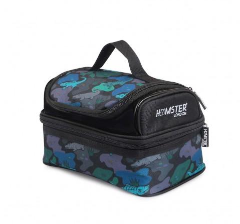 Hamster London Shimmy Alligator Lunch Bag Bags for Kids Age 3Y+ (Black)