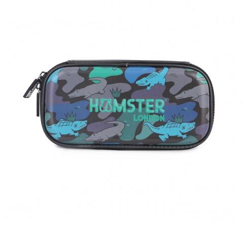 Hamster London Alligator Small Hardtop Pencil Case for Kids age 3Y+ (Black)