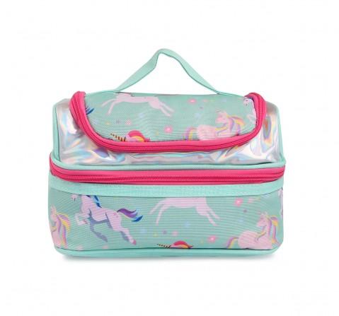 Hamster London Unicorn Double Zipper Pencil Case for Kids age 3Y+ (Pink)