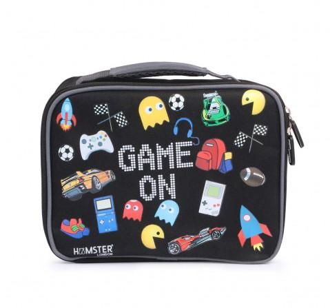 Hamster London Lunch Bag Gamer Bags for Kids Age 3Y+ (Black)