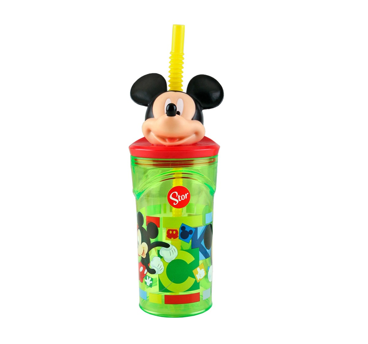 Disney Disney Stor 3D Figurine Tumbler Mickey Watercolours ,Quirky Soft Toys for Kids age 3Y+ - 23 Cm, 360 ml