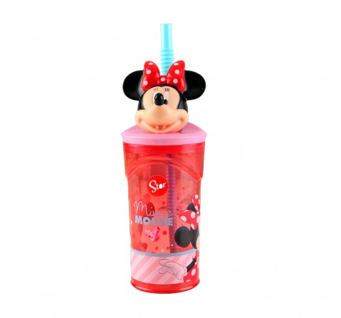 Disney Story 3D Figurine Tumbler Minnie Electric Doll,Water Bottles & Sipper for Girls age 3Y+, 360ml
