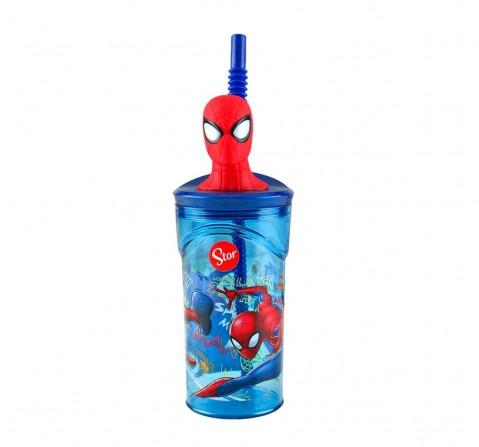 Marvel Stor 3D Figurine Tumbler Spiderman Graffiti 360 Ml for Age 3Y+ (Blue)